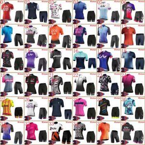 2021 Womens Cycling Short Sleeve Jersey Set Lady Summer Bike Shirt & Shorts Suit