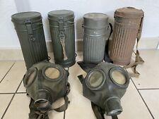 WW2 2x Gasmaske 5x Gasmaskenbüchsen