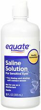 Equate Contact Lens Saline Solution for Sensitive Eyes, 12 Fl Oz (1 Bottle)