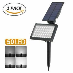Solar Powered 50-LED Spot Light Outdoor Garden Landscape Flood Lamp Waterproof