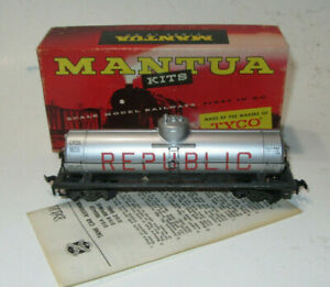 MANTUA HO GAUGE 40 FOOT SINGLE DOME MODEL TRAIN TANK CAR REPUBLIC CPOX 8056