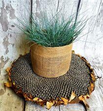 Jute round pot planter succulent holder cover Hessian sack garden handmade gift