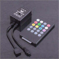 Musik Sound Sensor IR Fernbedienung für RGB 5050 3528 SMD LED Streifen 72W 12V