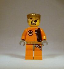 LEGO Agents Minifigure Gold Tooth 8630 8967 Gold Hair Plus FREE Grab Bag Genuine