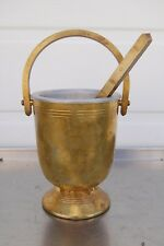 + Older Holy Water Bucket & Sprinkler Set + Aspergil  + (CU591) + chalice co.