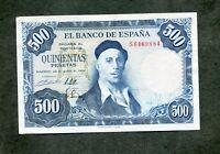 BILLETE 500 PESETAS 1954  S6469884  EBC APRESTO NUEVO