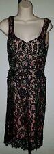 Womens Nanette Lepore Black Lace Sleeveless Dress Iridescent Lining sz 4