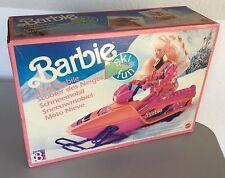 VINTAGE 1990 # MATTEL Snowmobile Ski-Doo Sled Moto Snow Barbie SCOOTER#NIB