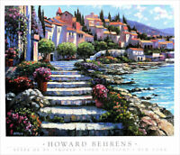 Howard BEHRENS Steps of St Tropez Poster Print 27 x 31-1/2