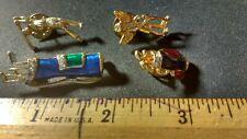 Lot Of 4 Vintage Golfing Pins, Enamel, Gold Tone