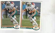 FREE SHIPPING-MINT-1991 Upper Deck #251 Jim Jensen Miami Dolphins -2 CARDS