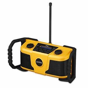 UEME Rugged DAB FM Job Site Radio Stereo Bluetooth Streaming Construction Wifi