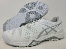 ASICS Women's GEL-Resolution 6 Running Shoe, White/Silver, 9.5 B(M) US