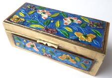Boîte de Timbres en Laiton Cloisonné- Émail Chine Um 1920 AL1146