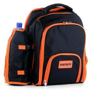 FUXTEC Picknick-Rucksack Picknick Tasche für 4 Personen mit Kühlfach Rucksack