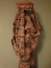 Jaeger Wool Scarf.large.pastel Pink/grey