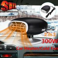 2-In-1 Car Auto Cigarette Lighter Heater Cooling Fan Defroster Demister 12V JE