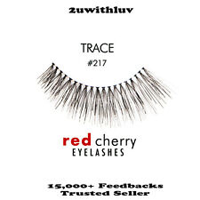10 X RED CHERRY 100% HUMAN HAIR BLACK FALSE EYE LASHES #217 BNIB