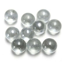 20Pcs10mm 14mm 16mm Glass Ball Transparent Solid Marble Traditional Marbles Game
