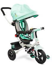 Kinder-Dreirad Wroom Premium mit EVA-Reifen Gepäckkorb Sonnenschutz Mint