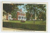 League Island Quarters Sesquicentennial Exposition PHILADELPHIA PA Vtg Postcard