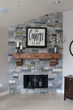"Custom 65"" New Pine Hand Hewn Rustic Barn Beam  Fireplace Mantel with Corbels"