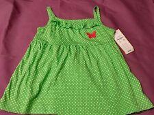 child of mine kids carters green /white poka dot  girls shirt 6x/7