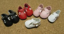 Doll Shoes, 46mm WHITE T-Straps for Ann Estelle, Tonner Patsy, Others