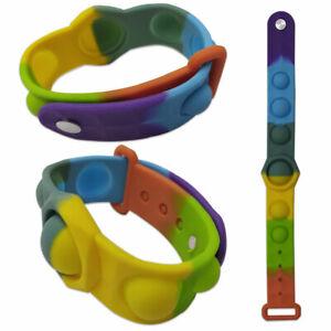 Fidget Sensory Toy Simple Dimple Push For Pop it Bubble Up Kids Bracelet Gift