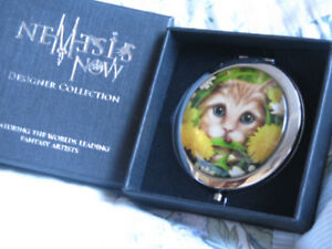 Compact Mirror Nemesis Now Summer Cat LMJ Wicca