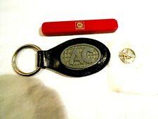Vintage AC Spark Plug Collectors 3pc Lot-Knife,Key Chain,Token