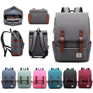 Universal Men Women Canvas Backpack School College Travel Shoulder Bag Rucksack