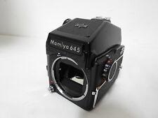 【Exc++++】 Mamiya M645 Mdeium Format Camera Body w/ AE Finder 120 Film Back #105