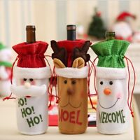 Christmas Santa Wine Bottle Gift Bag Ornaments Xmas Home Party Decor Gift