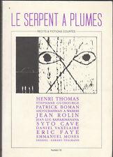 LE SERPENT A PLUMES n° 16 - 1995 - Récits et Fictions courtes