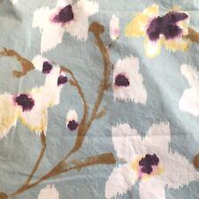 Crate & Barrel Fleur Pale Blue Floral / Branch Pillow Sham & Euro Sham Rare Set