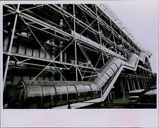 LG825 1978 Original Photo GLASS ENCLOSED ESCALATOR Pompidou Center Paris France