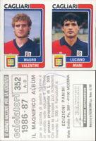 CALCIATORI PANINI 1986/87*FIGURINA STICKER N.352-CAGLIARI,VALENTINI-MIANI