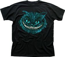 Chat du Cheshire bleu Alice au pays des merveilles tous Mad Hatter ici T-shirt Noir 9583