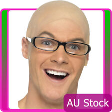 Unisex Funny Skinhead Mens Dress Bald Skin Head Fancy Cosplay latex Wig Adult