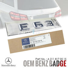 GENUINE OEM MERCEDES BENZ E63 CHROME REAR TRUNK BOOT EMBLEM BADGE AMG GERMANY