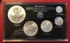 2019 5pc Silver Mexican Libertad BU coins, *Treasure Coins of Mexico™*