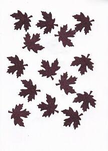 Glittered Burgundy Leaves for Crafts
