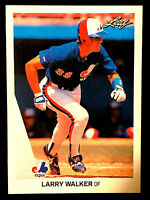 1990  Leaf #325 LARRY WALKER RC ROOKIE CARD ~ HE IS  NOW IN THE HALL OF FAME!!!