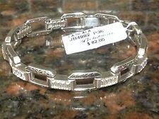 NWT BRIGHTON LA SCALA Bracelet~Silver Linkeds Adorned Swarovski Crystals~ELEGANT