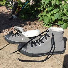 Grey Winter Trainers NOT Converse 👟 Unisex Winter Shoes 👟 Fits Women / Man🇬🇧