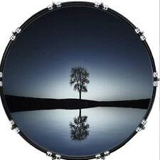 "Custom 22"" Kick Bass Drum Head Graphical Image Front Skin Lone Tree"