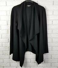 Helmut Lang Sonar Wool Draped Cardigan Sweater M Black