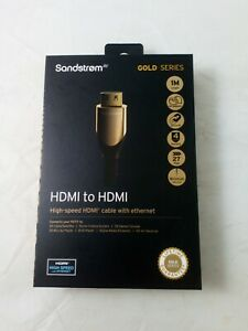 Sandstrom Gold Series High-speed HDMI to HDMI Cable With Ethernet 1M, Ref:W1506