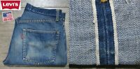 VINTAGE LEVI'S 501 RED TAB DENIM JEANS BIG E REDLINE SELVEDGE USA RARE 30x26